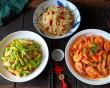 món ngon, ẩm thực, gia đình, tôm luộc, đậu phụ, giá đỗ chua cay