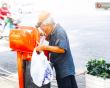 Sài Gòn , ông cụ,  ly cà phê, thùng rác