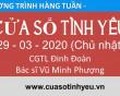 Chương trình Cửa Sổ Tình Yêu ngày 29-03-2020