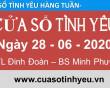 Nghe chương trình Cửa Sổ Tình Yêu mới nhất ngày 28-06-2020