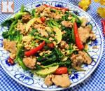 Món ngon mỗi ngày, nỗm rau muống, món ngon ngày hè, mùa hè, cua so tinh yeu