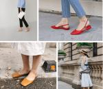 Đẹp, Thời trang, Mặc đồ đẹp, Giày đế thấp, Giày mule, Giày loafer, Giày có quai gót, cua so tinh yeu