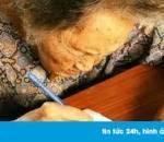 cụ bà, vẽ, 1000 trái tim, tặng chồng, cửa sổ tình yêu.