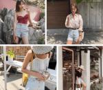 mix đồ, quần shorts, mặc đẹp, mốt14, hot trends hè 2019, cua so tinh yeu
