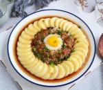 món ngon, nấu ăn, đậu phụ non, đậu phụ hấp thịt bằm, cua so tinh yeu