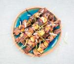 thịt xiên dứa sốt teriyaki, công thức nấu ăn, thịt sốt dứa, cua so tinh yeu