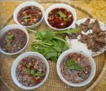 tiết canh, củ dền, thịt vịt, tiết canh củ dền, món ngon