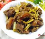 thịt bò, gân bò, món ngon từ bò, bò kho gừng sả
