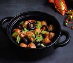chả cá, tôm khô, nấm hương, món ngon