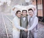 thái lan, đám cưới, đồng tính nam, hôn nhân đồng tính, đám cưới đồng tính, đám cưới tay ba, chuyện lạ
