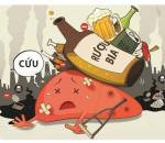 men gan, tăng men gan, nguy hiểm, rượu bia nhiều, hại gan