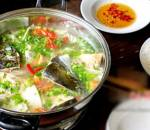 Lẩu đầu cá hồi, tự làm, tại nhà, ngon như hàng, công thức, món ngon