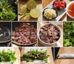 phở cuốn bún, thịt bò, vừa ngon, dễ ăn, công thức, món ngon