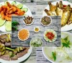 Thực đơn bữa cơm, lòng non xào dưa, món ngon mỗi ngày, món ngon, cho bữa cơm gia đình, tôm rim, Canh bầu, cá kho tiêu