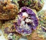 khoai lang tím nhân tôm thịt, món ngon, cua so tinh yeu