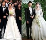 Song Hye Kyo, đám cưới, váy cưới, Angelababy, Miranda Kerr, Dior, cua so tinh yeu