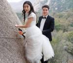 ảnh cưới Tây Du Ký, Trung Quốc, chụp ảnh vách núi, núi đá, cua so tinh yeu