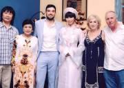 Hà Anh , siêu mẫu Hà Anh , lễ ăn hỏi của Hà Anh,  vợ chồng Hà Anh