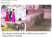 đám cưới, trung quốc, nhà giàu, phúc châu, nhân dân tệ, chuyện lạ
