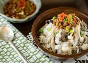 cơm nấm, sốt thịt heo, cách làm, khéo tay, món ngon