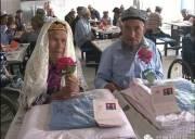 Trung Quốc   ,đám cưới  ,gần đất xa trời   ,viện dưỡng lão  ,tình yêu  ,cặp đôi già  ,ông lão ,bà lão ,hạnh phúc  ,điên cuồng theo đuổi