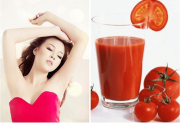 Trị hôi nách, cà chua, làm đẹp, bí quyết trị hôi nách