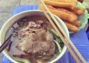 cầu gỗ, món ngon, ăn vặt, bún tháng, hải sản