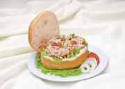burger cá ngừ, bánh mì, món ngon, công thức
