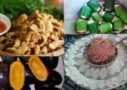 đặc sản Phú Thọ, món ngon Phú Thọ, đất tổ, đền Hùng, rau sắn, cọ ỏm, bánh tai, cơm nắm, rêu đá