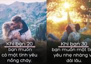 tình yêu, ý nghĩa, 30 tuổi, 20 tuổi, cua so tinh yeu