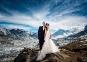 ảnh cưới, leo núi, Everest, cua so tinh yeu