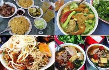 món ăn Hà Nội, cơm gà Tống Duy Tân, bún ốc Hàng Khoai, món ngon hà nội ,lẩu Phùng Hưng, đồ nướng Gầm Cầu