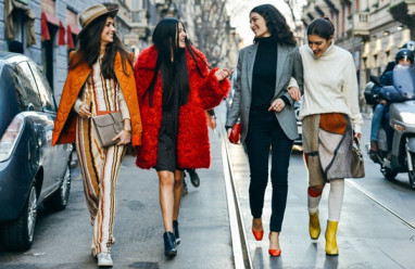 trang phục mùa đông, màu sắc ấm áp, nổi bật, phong cách