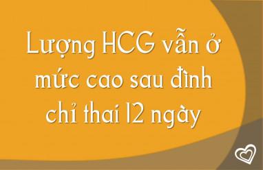 Lượng HCG vẫn ở mức cao sau đình chỉ thai 12 ngày