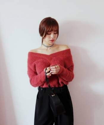 áo len cổ rộng, thời trang, phong cách, kết hợp, mặc đẹp
