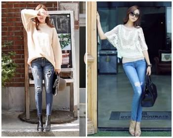 phong cách thời trang, bí quyết, chọn quần jeans, mặc quần jeans đẹp, với chân cong