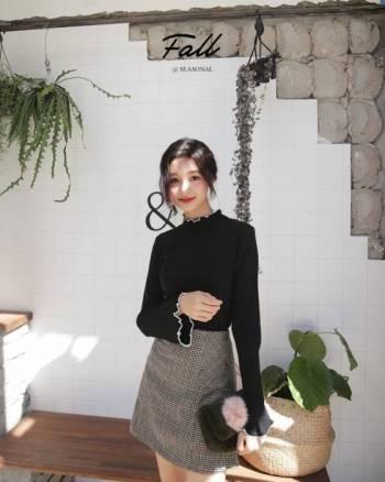 xu hướng, váy áo mùa thu, cổ hoa phăng, cua so tinh yeu