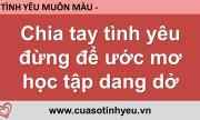 Chia tay tình yêu đừng để ước mơ học tập dang dở - Nguyễn Thị Mùi