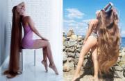 Diễn viên trở thành hotgirl Instagram nhờ mái tóc dài 1,63 m