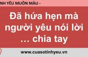 Đã hứa hẹn mà người yêu nói lời chia tay - Nguyễn Thị Mùi