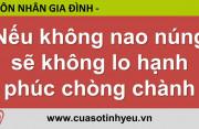 Nếu không nao núng sẽ không lo hạnh phúc chòng chành - Nguyễn Thị Mùi